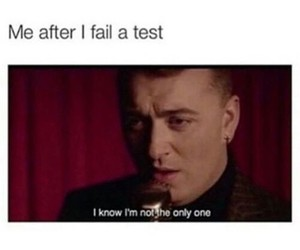funny, test, and sam smith image