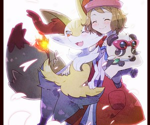 pokemon, serena, and xy image