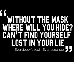 quote, lie, and mask image