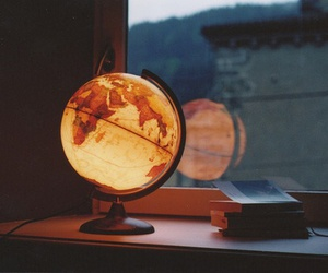 world, globe, and light image