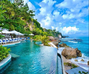 sea, pool, and places image