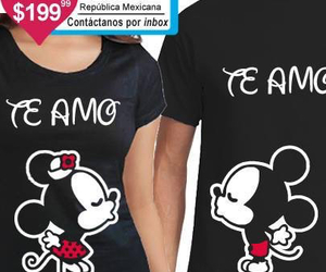 I Love You, mickey mouse, and te amo image