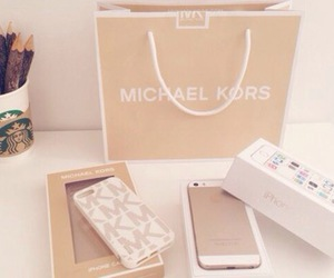 iphone, Michael Kors, and gold image