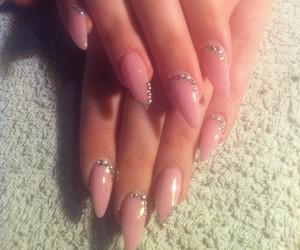 nail, nails, and oval image