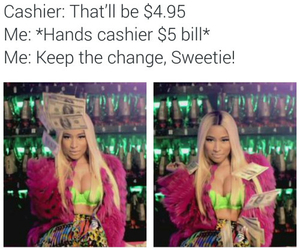 cashier, funny, and music video image