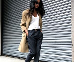 fashion, coat, and heels image
