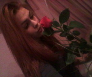 girl, rose, and loveit image