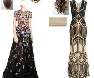 accessories, gowns, and heels image