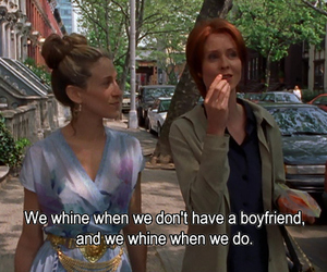 quotes, sex and the city, and boyfriend image