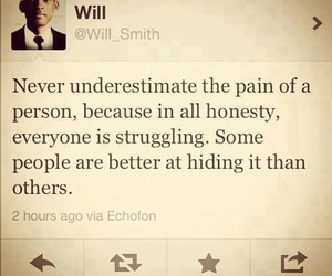 quotes, will smith, and pain image