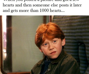 harry potter, lol, and ron weasley image