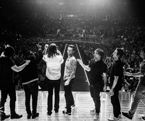 maroon 5, mickey madden, and james valentine image