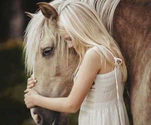 animals, love, and girl image