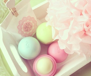 eos, pink, and girly image