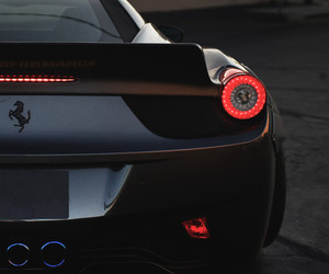 ferrari, car, and black image