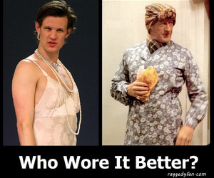 doctor who, cross dresser, and matt smith image