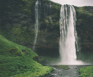 nature, vertical, and waterfall image