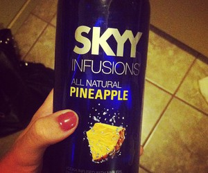 pineapple, skyy, and vodka image