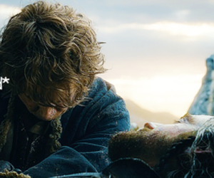the hobbit, bilbo baggins, and thorin oakenshield image