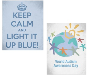 autism, awareness, and blue image