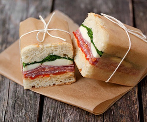 food, sandwich, and yummy image