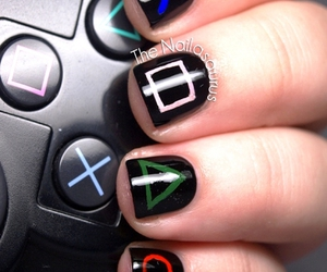nails, nail art, and gamer image