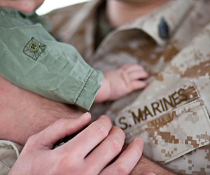 love, baby, and army image