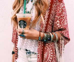starbucks, fashion, and style image