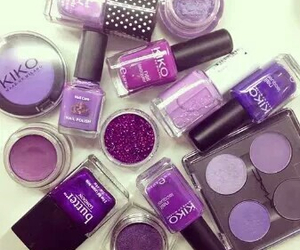 purple, makeup, and nails image
