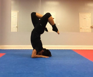 headstand, peace, and studio image