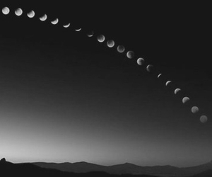 night and moon phase image