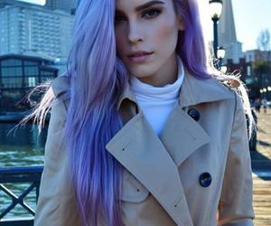 fashion, hair, and purple hair image
