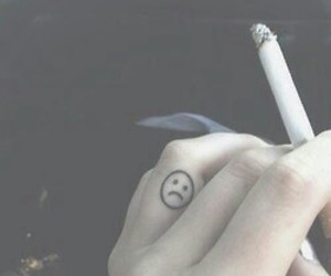 beautiful, cigarette, and grunge image