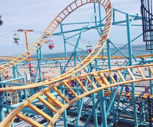 beach, rollercoaster, and Santa Cruz image