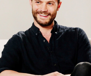 Jamie Dornan, sexy, and smile image