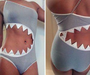 shark, bikini, and summer image