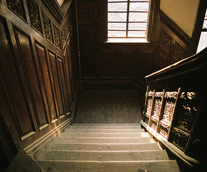 stairs, house, and staircase image