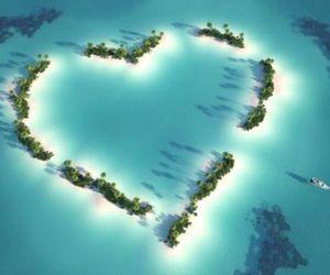 heart, Island, and sea image