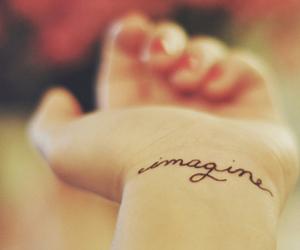 tattoo, imagine, and hand image