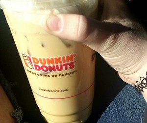 dunkin donuts, iced, and iced coffee image