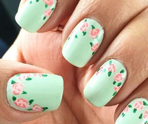 flower, green, and nail image