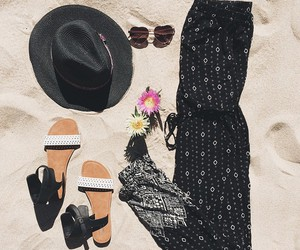 beach, beauty, and outfit image