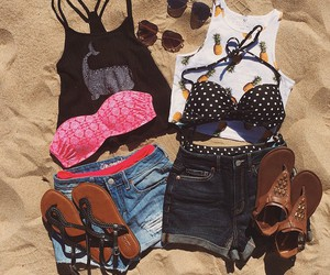 outfit, summer, and beach image