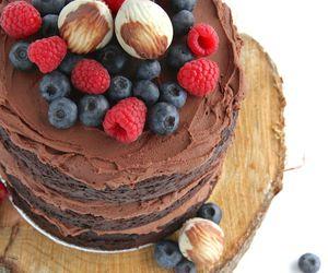 cake, sour cream, and chocolate image