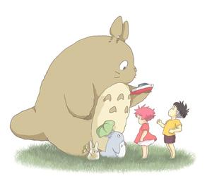 totoro, Ponyo, and studio ghibli image