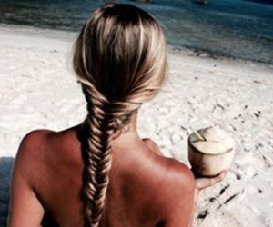 blond, blue, and coconut image