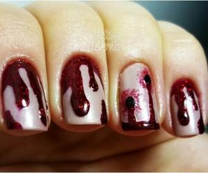 nail art, reds, and nail polish image