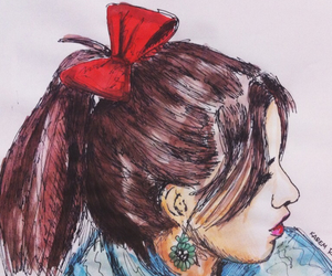 drawing, fan art, and lauren jauregui image