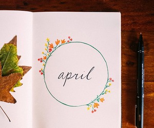 april, spring, and month image