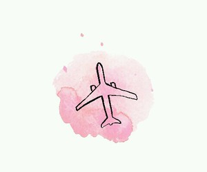 travel, pink, and wallpaper image